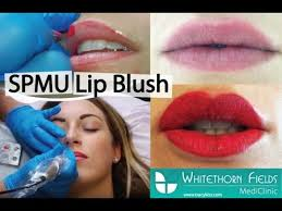 semi permanent makeup lip blush