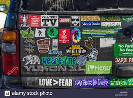 Bumper Stickers Usa High Resolution Stock Photography And Images Alamy