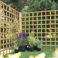 Larchlap Dip Treated Garden Trellis Panel 1830mm X 1830mm Minimum Order Qty Of 2 Travis Perkins