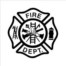 Fire Dept Decal Sticker Firefighter Cross Coloring Page Firefighter Logo
