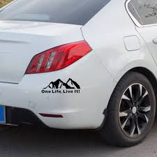 1pcs One Life Live It Off Road Mountain Silhouette Car Sticker Window Vinyl Decals For Car Styling Buy At The Price Of 0 62 In Aliexpress Com Imall Com