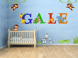 Jungle Animal Safari Custom Monkey Wall Decals Kids Wall Etsy In 2020 Monkey Wall Decals Nursery Wall Decals Kids Wall Decals