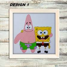 Spongebob Squarepants Patrick Star Best Friends Canvas Etsy