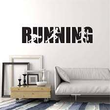 Amazon Com Smalop Wall Quotes Decal Wall Stickers Art Decor Running Word Lettering Runner Room Run Home Kitchen