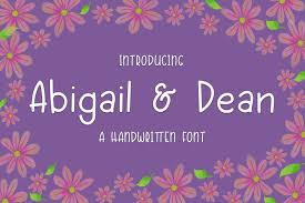 Abigail & Dean (Font) by Kristy Hatswell · Creative Fabrica