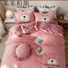 velvet 4pcs duvet cover bed sheet