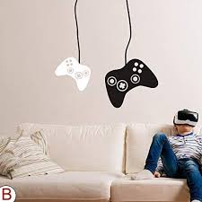 Amazon Com Flywalld Game Wall Decal Boys Gamer Room Gaming Decals Bedroom Decor Video Game Controller Vinyl Art Stickers Arts Crafts Sewing