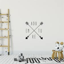 Adventure Wall Decal Quote Adventure Wall Sticker Arrows Kid Etsy