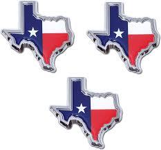 Amazon Com Muzzys Set Of Three Texas Flag In Shape Of Texas State Edition Emblem Decal Longhorn Lone Star Metal Badge Universal Stickon Fits Chevy Silverado Suburban Tahoe Sierra Ford F150 Ranger F 150