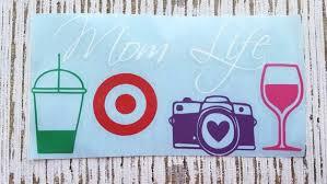 Mom Life Decal Mom Life Sticker Mom Decal Mom Wine Glass Etsy