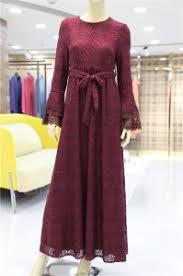 muslim long sleeve women party dress