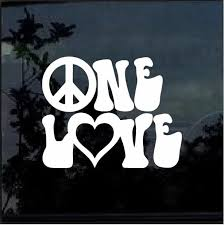 One Love Window Decal Sticker Custom Sticker Shop