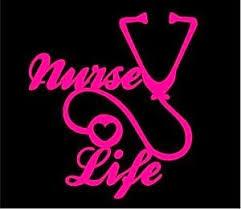 Nurse Life Stethoscope Decal Sticker 7 Inch Hot Pink Customstickershop On Artfire