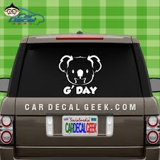 Koala Bear G Day Australia Vinyl Car Window Decal Sticker Car Decals Stickers Awesome Car Decals Car Decals Vinyl