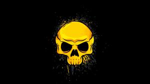 4k gold skull wallpaper hd artist 4k