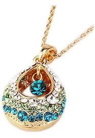 teardrop pendant chain necklace