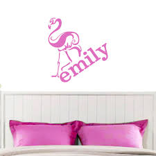 Flamingo With Custom Name Wall Decals Wall Decor Stickers
