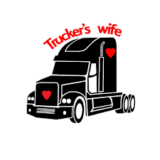 Truckers Wife Semi Driver Decal Sticker Vinyl Window Decals Comes Ready To Apply Sold By Big Tees Printing On Storenvy