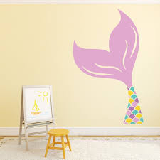 Pink Mermaid Tail Fairytale Wall Sticker