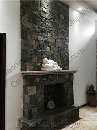 fireplace walls stacked stone fireplace