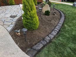 decorative concrete lawn edging des
