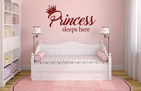Princess Sleeps Here Wall Decal Canvas Art Rocks