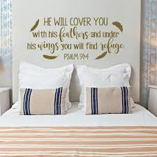 Psalm He Will Cover You With His Feathers Bible Verse Wall Decal Family Vinyl Wall Sticker Christian Scripture Wall Decor Childrens Wall Stickers For Bedrooms Circle Wall Decals From Joystickers 11 04 Dhgate Com