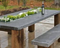 concrete outdoor table