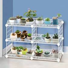 Hot Deal Df00 Household Wrought Iron Multi Layer Plant Stand With Four Sides Of Fence Rack Balcony Indoor Garden Flower Pot Shelf Detachable Cicig Co