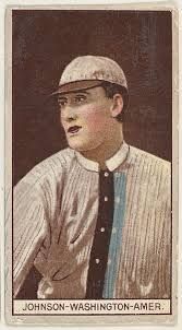Issued by American Tobacco Company | Walter Johnson, Washington, American  League, from the Brown Background series (T207) for the American Tobacco  Company | The Met
