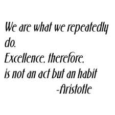 We Are What We Repeatedly Do Decal 10x14 Wall Decals By Design With Vinyl