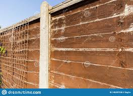 Garden Fence Panel That Is In Need Of Painting Stock Photo Image Of Wooden Finish 149397338