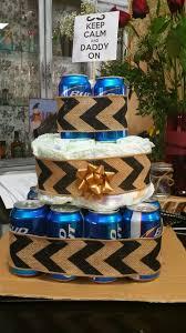beer diaper cake diy baby shower gift
