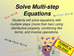solve multi step equations powerpoint