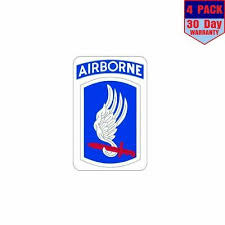 Us Army 173rd Airborne Brigade Military Forces 4 Pack 4x4 Inch Sticker Decal 4 98 Picclick