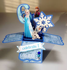 Card In A Box Frozen Disney Elsa Anna Olaf Tarjetas De