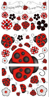 Amazon Com Ladybug Ladybug Giant Peel And Stick Wall Decals Removable And Reusable Home Kitchen