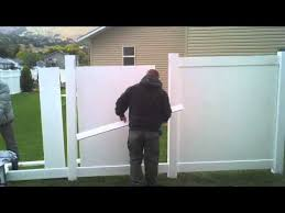 How To Install A Vinyl Fence Part 2 Youtube