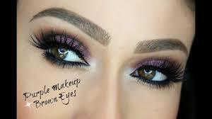 purple eye makeup for brown eyes