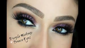 purple makeup ideas for brown eyes
