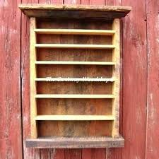 case cabinet rack walnut finish