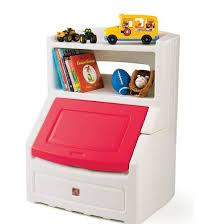 Lift Hide Bookcase Storage Chest Kids Toy Box Step2