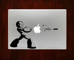 Megaman Blast Apple Icon Bullet Decal Sticker Vinyl For Apple Macbook Pro Air Retina 13 15 Inch Laptop Decals Macbook Decal Stickers Macbook Decal Laptop Decal