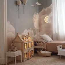 Cloud Themed Room Ideas Get An Amazing Cloud Themed Room With Circu Magical Furniture Find More At Circu Net Kids Room Curtains Girl Room Kids Room Paint