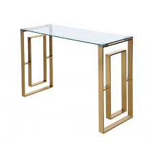 adam mirror and glass console table