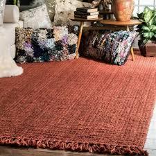 chunky loop natural jute area rug