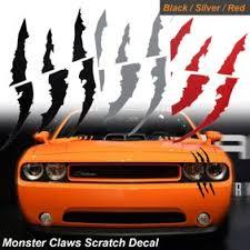 Xotic Tech Vinyl Headlight Taillight Claw Scar Scratch Decal Monster Stripe Decor Sticker Silver Walmart Com Walmart Com