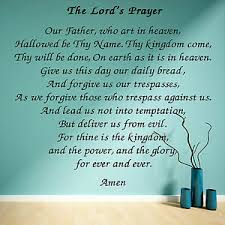 The Lords Prayer Wall Art Vinyl Sticker Room Decal Script Bible Scripture Ebay