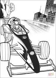 Action Man In Race Auto Kleurplaat Gratis Kleurplaten Printen
