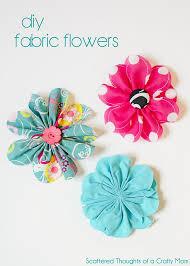 simple 5 inch fabric flower tutorial